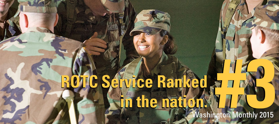 ROTC Service Ranked #3 in the nation.  Washington Monthly 2015