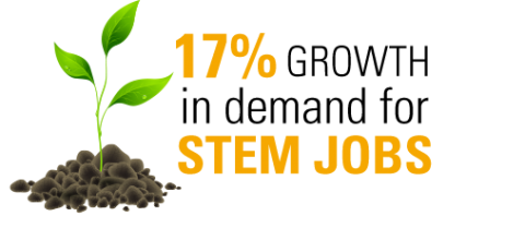 17% Growth in demand for STEM Jobs
