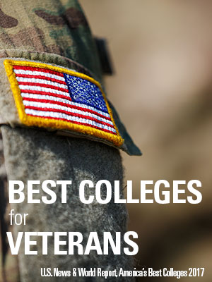 Best Colleges for Veterans, U.S. News & World Report, America's Best Colleges 2017
