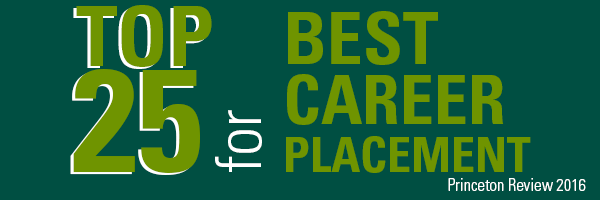 Top 15 for Best Career Placement, Princeton Review 2016