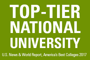 Top-Tier National University U.S. News & World Report, America's Best Colleges 2017