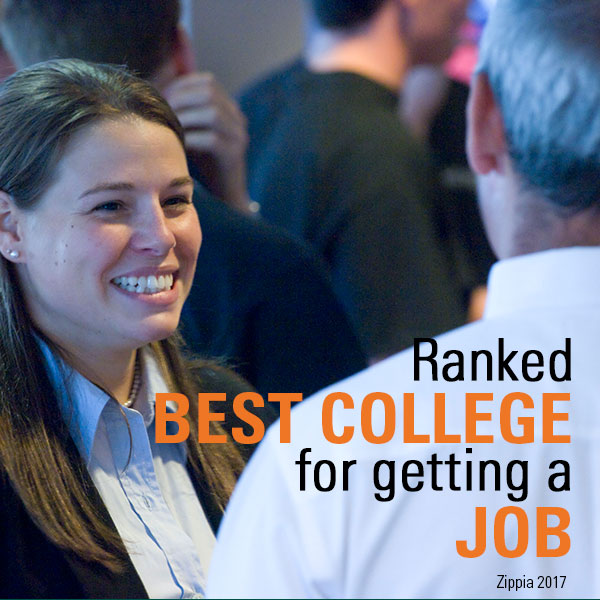 Ranked Best College for Getting a Job, Zippia 2017