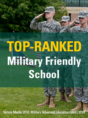 Top-Ranked Military Friendly School, Victory Media 2016, Military Advanced Education (MAE) 2014