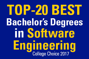 Top-20 Best Bachelor's Degrees in Software Engineering, College Choice 2017