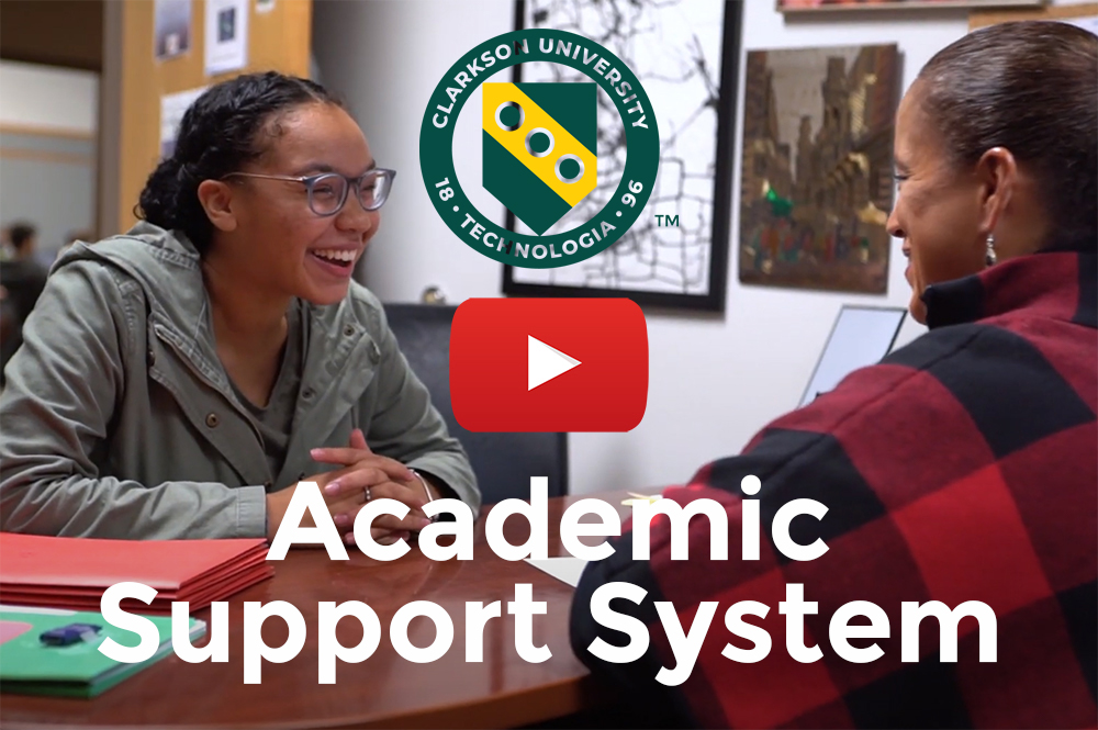 Academic support services at Clarkson University.