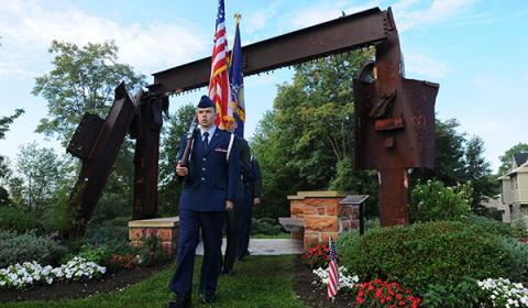 ROTC participating in 9-11 memorial ceremony