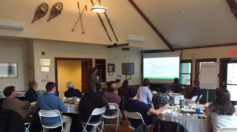 A meeting of conservation groups was held at Clarkson University last month to discuss the Algonquin to Adirondacks Collaborative (A2A) conservation corridor.