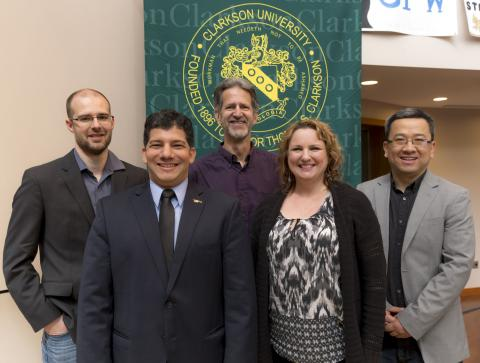 Five Clarkson University faculty members were honored this month for their excellence in the classroom