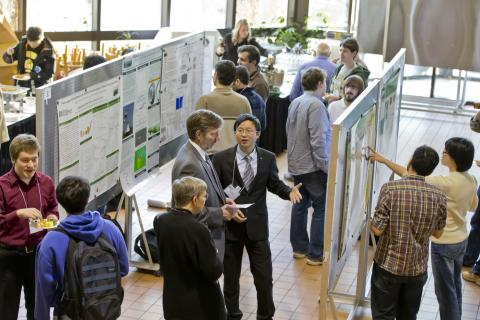 "Clarkson University students present a broad range of research at the Institute for a Sustainable Environment Poster Session 2016. Clarkson has received a gold rating from AASHE STARS program and has been named a ""leader"" in the NYSERDA REV Campus Challenge for sustainability education and research."