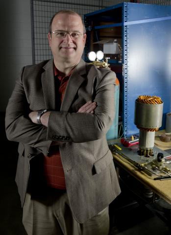 Russ Marvin is the CEO of LC Drives, a company that designs and manufactures ultra-efficient electric motors in Clarkson University's Peyton Hall business incubator, run by its Shipley Center for Innovation.