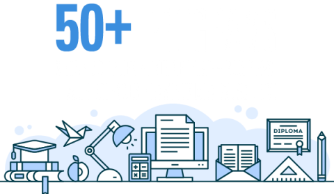 50+ Programs in arts, sciences, engineering, business, health sciences, environmental science