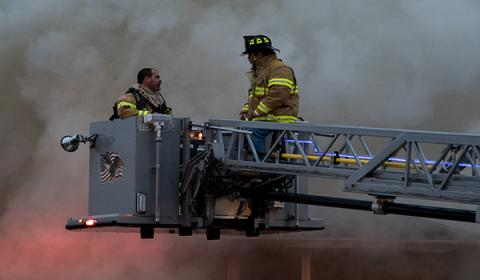 Picture of Firemen fighting fire