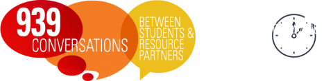 939 Conversations between students & resource partners. That's more than 5 conversations/minute for three straight hours!