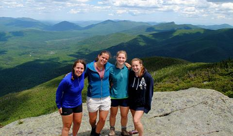 Honors students in the adirondack mountains