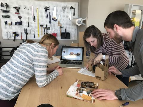 OT students explore the assistive tech maker movement by assembling a Google Artificial Intelligence kit.