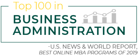 Top 100 in business administration - U.S. News & World Report, Best Online MBA Programs of 2019