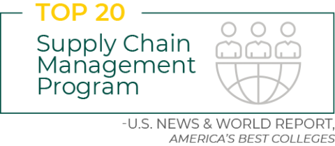 Top-20 Global Supply Chain Management Program, U.S. News & World Report, America's Best Colleges