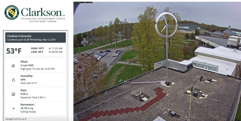 Clarkson University Wind Turbine Webcamera