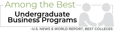 Among the Best Undergraduate Business Programs Infographic