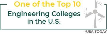 One of the top 10 Engineering colleges in the U.S. - USA Today