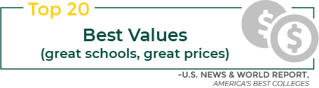 Infographic: Top 20 Best Values (great schools, great prices)
