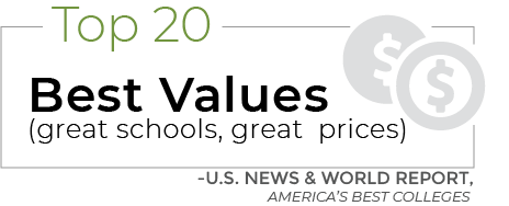 Top-20 Best Values (Great Schools, Great Prices), U.S. News & World Report, America's Best Colleges