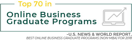 Top 70 in Online Business Graduate Programs - U.S. News & World Report - Best Online Business Graduate Programs (Non-MBA) for 2018