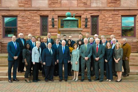 Board of Trustees in front of Old Main - 2019-20