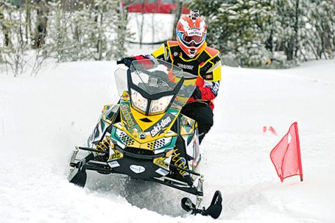Clarkson's Clean Snowmobile Diesel Sled SPEED team competes in an annual competition