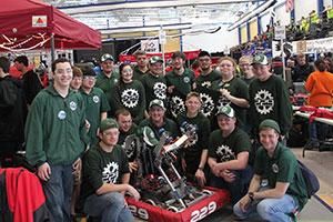 Clarkson's FIRST Robotics SPEED team at competition