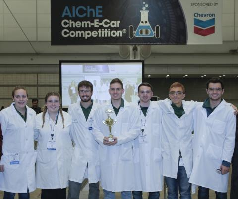 Clarkson's Chem-E Car SPEED team at a national competition