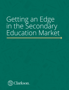 MAT E-book: Getting an Edge in the Secondary Education Market