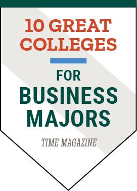 Clarkson University was listed as one of 10 Great Colleges for Business Majors by TIME magazine
