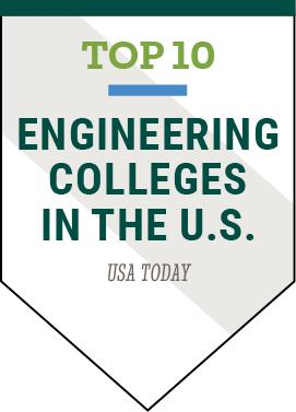 Clarkson University was named one of the Top 10 Engineering Colleges in the U.S. by USA Today