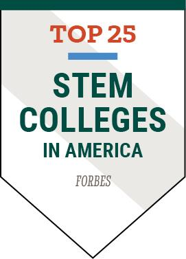 Clarkson University was listed as Top 25 STEM Colleges in America by Forbes