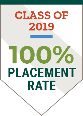 100% Placement Rate Class of 2019