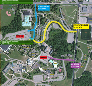 clarkson university campus map Move In Map 2017 Large Clarkson University clarkson university campus map
