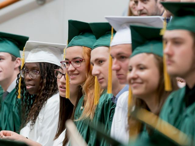 The Clarkson School students at commencement for the secondary school college option.