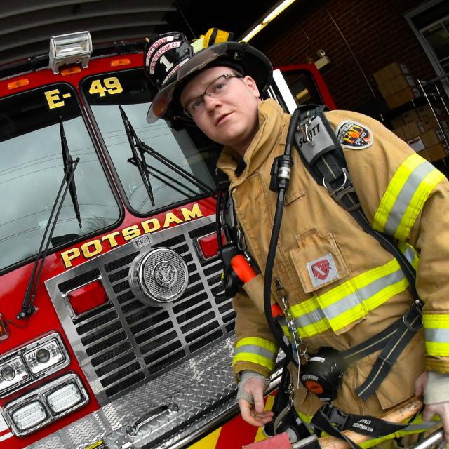 Clarkson Student Also Firefighter